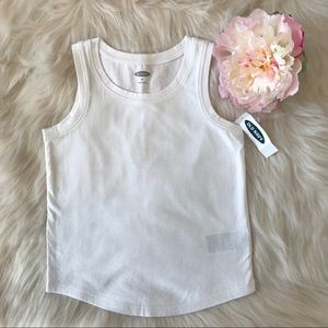 Old Navy Girls Cute & Comfy White Jersey Tank Top